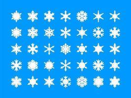 Weiße Schneeflockensammlung vektor