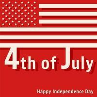 4. Juli - Glücklicher Unabhängigkeitstag