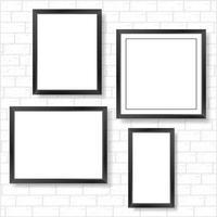 Frames auf Ziegelmauer vektor
