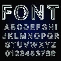 Prickar teckensnitt alfabetet