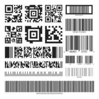 Streckkod och QR-koduppsättning vektor