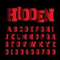Dold alfabetsteckensnittmall vektor