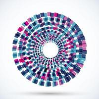 Round Motion-Objekt auf weißem Hintergrund