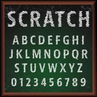 krita ombord alfabetet typsnitt mall vektor