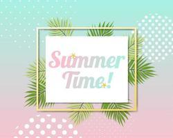 Vackert sommarbaner och affischkort