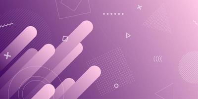 Purpurroter Retro- geometrischer Formhintergrund der Steigung vektor