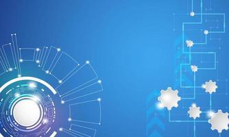 Abstrakter digitaler Technologiehintergrund mit geometrischen Formen vektor
