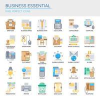Reihe von Business Essential dünne Linie und Pixel perfekte Symbole für jedes Web- und App-Projekt. vektor