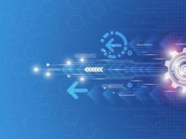 Futuristisches Technologiegeschwindigkeitskonzept vektor