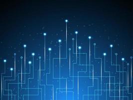 Abstraktes Technologiedesign mit glühendem Punkt und Verbindungslinien