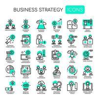 Affärsstrategi, tunn linje och perfekta ikoner för pixlar