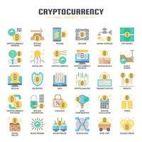 Kryptowährungselemente, dünne Linie und Pixel-perfekte Ikonen