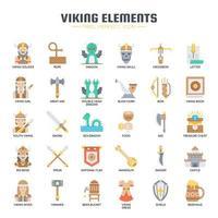 Vikingelement, tunn linje och perfekta ikoner för pixlar vektor