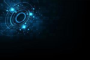 Glödande blå digital cirkulär form