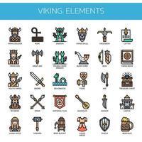 Viking Elements, Thin Line und Pixel Perfect Icons vektor
