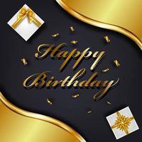 Grattis på födelsedagen gratulationskort mall vektor