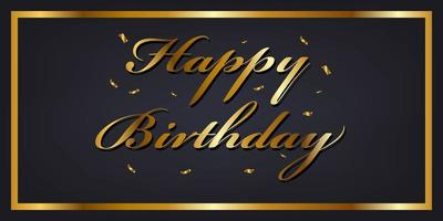 Gold alles Gute zum Geburtstag Banner