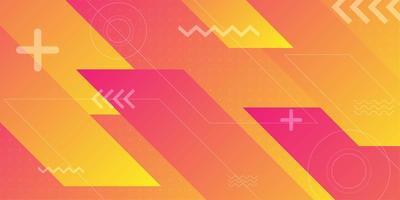 Orangerote diagonale abgewinkelte abstrakte Formen vektor