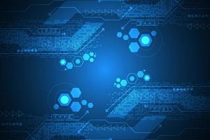 Abstrakter digitaler Technologiehintergrund mit Hexagonen