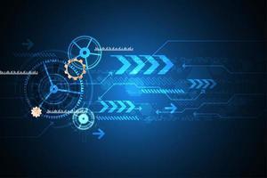 Futuristisches Technologiebild mit Gängen und Pfeilen