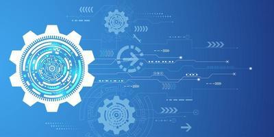 Digitaler Hintergrund der abstrakten blauen Technologie vektor