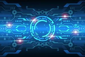 Futuristisch leuchtende Digitalanzeige
