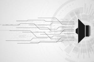 Minimalistisches digitales Lautsprecher- und Soundkonzept vektor