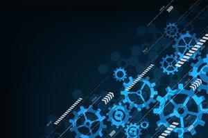 Gänge mit abstraktem Technologiehintergrund der Pfeile vektor