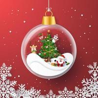 Verzierungs-Glasorigami-Weihnachtshintergrund