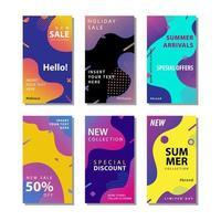 uppsättning försäljning banner med flytande gradientelement