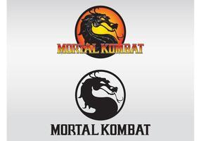 Tödliche kombat logos vektor