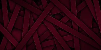 Dunkelrote überlappende abstrakte Linie Formen 3d vektor