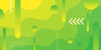 Überlappender Formhintergrund der hellgrünen und gelben Steigung