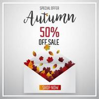Sonderangebot Herbstlaubverkauf vektor