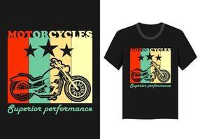Vintager Motorradt-shirt Entwurf vektor
