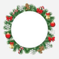 Jul dekorativ ram. vektor