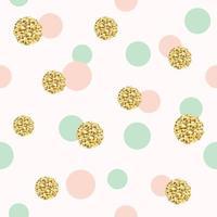 Glitter konfetti polka dot sömlösa mönster.