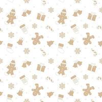 Weihnachtsnahtloses Muster mit Lebkuchenmann.