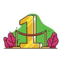 ranking 1 illustration vektor