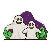 rolig spök halloween uppsättning vektor