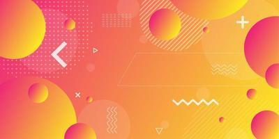 Orange rosa och röda retro former bakgrund vektor