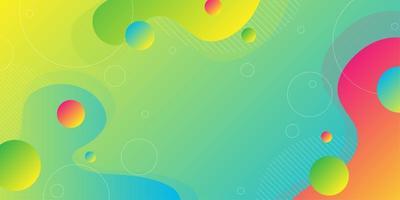 Bunte überlappende Flüssigkeit formt Hintergrund vektor