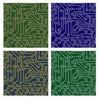 Muster der elektronischen Schaltung vektor
