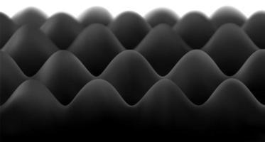Schwarzes, schalldichtes Schaumstoffmuster vektor