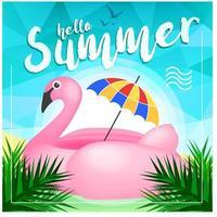 Flamingo-Sommer-Tageshintergrund