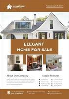 Immobilien elegante Flyer Entwurfsvorlage