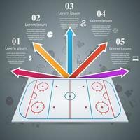 Hockeyfältmall - infographic affär. vektor