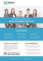 Blaue themenorientierte Unternehmensnizza Flyer-Schablone