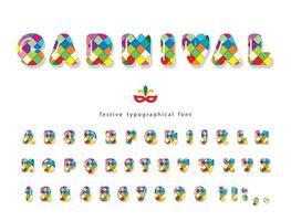 Carnival glansigt teckensnitt. vektor