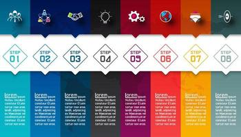 Bunte Bars mit Business-Symbol Infografiken.